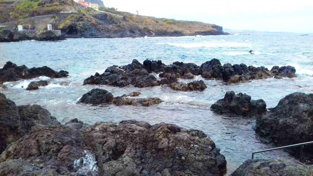 Garachico természetes strand